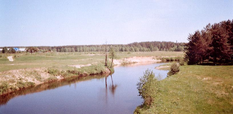 Река Линда у села Кантаурово Борского района