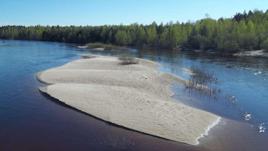 Это река Керженец весной